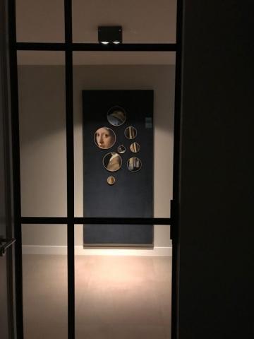 interieur wanddecoratie in borduurringen: Meisje Met De Parel van Johannes Vermeer